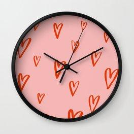 Heart Doodles 1 Wall Clock