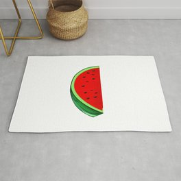 Feed Me Watermelon Tropical Summer Vibes Fruit Rug