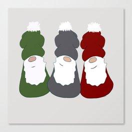 Christmas Gnomes Canvas Print