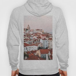 Sunset in Alfama, the Old Town of Lisbon, Portugal   Travel Photography   Hoody