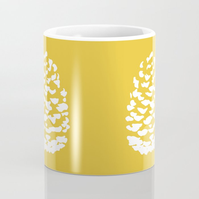 Pinecone Mustard Yellow Coffee Mug