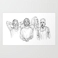 One Direction Art Print