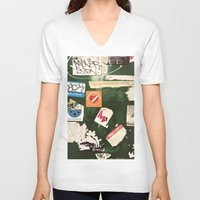 stickers V-neck T-shirts featuring stickers by kazmcart