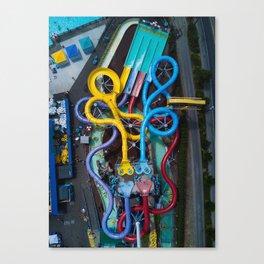 Wild Waves Water Slide Canvas Print