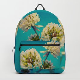 White Flowers - Meera Mary Thomas Design Backpack