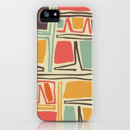Whimsical abstract pattern design iPhone Case