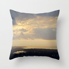 Sunrise Over South Long Beach Throw Pillow