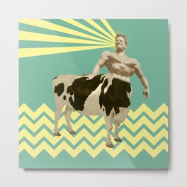 The real muscular cow-boy  Metal Print
