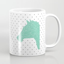 Faceted Green Horse Coffee Mug