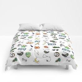 Spooky Doodles Comforters