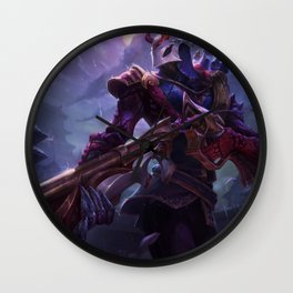Blood Moon Jhin League Of Legends Wall Clock