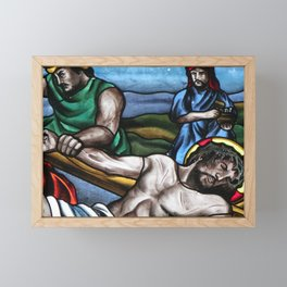 11th Jesus is Nailed to the Cross Framed Mini Art Print