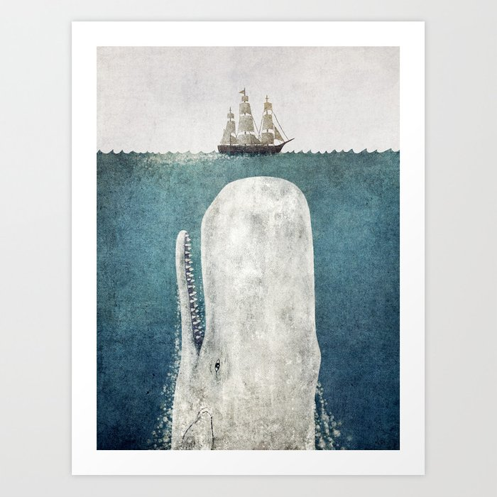 The Whale - vintage Kunstdrucke