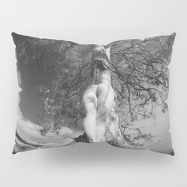9102-LP Tree of Life Nature Goddess Earth Mother One with the Tree BW Fine Art Nude Pillow Sham