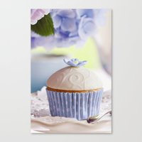 cupcake Canvas Prints featuring CUPCAKE by Ylenia Pizzetti