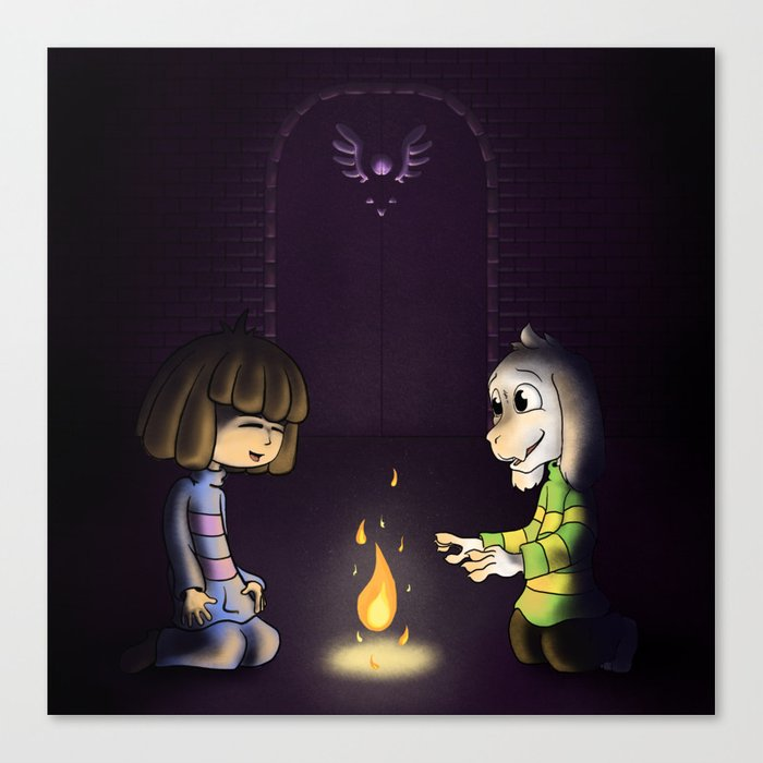 Frisk and Asriel Canvas Print