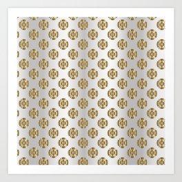 Traditional Japanese pattern MOKKO Art Print
