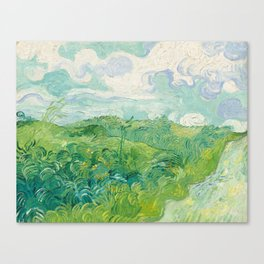 Vincent van Gogh Green Wheat Fields, Auvers 1890 Painting Canvas Print