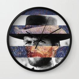 Van Gogh's Self Portrait & Clint Eastwood Wall Clock