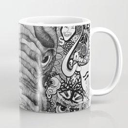 The Idiosyncratic Elephant Sharpie Drawing Coffee Mug