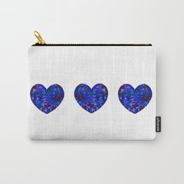 Three Space Hearts Carry-All Pouch