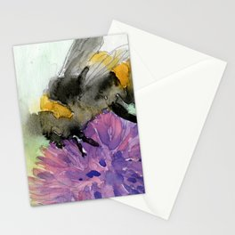 Watercolor Bee 7 Stationery Cards