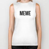 meme Biker Tanks featuring MEME by No Art Inside