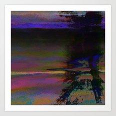 19-46-12 (Black Hole Glitch) Art Print