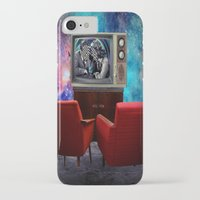 tv iPhone & iPod Cases featuring Television by Cs025