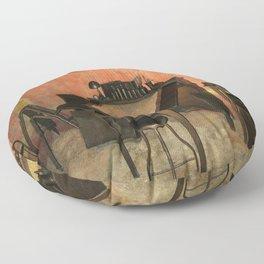 Antique Nautical Desk Floor Pillow