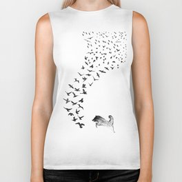 Sheba the Bird Worrier Biker Tank