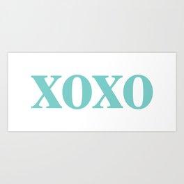 Aqua XOXO Kunstdrucke