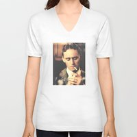 fitzgerald V-neck T-shirts featuring F. Scott Fitzgerald by Earl of Grey