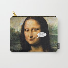 Smirking Mona Lisa Carry-All Pouch