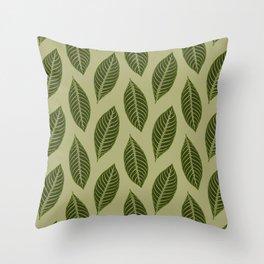 ever green foliage Throw Pillow