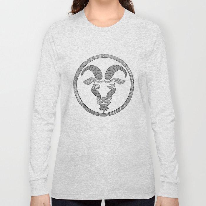 Zodiac Sign Capricorn Long Sleeve T-shirt