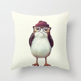 Mr. Porg Throw Pillow