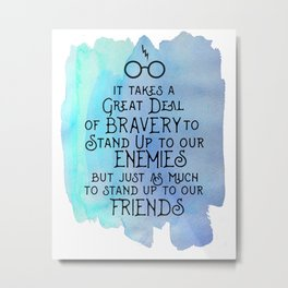 Bravery and Friends Metal Print
