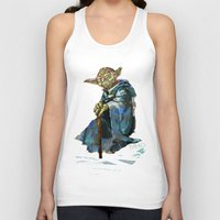 yoda Tank Tops featuring Yoda by pabpaint