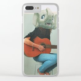 Hop off the couch Clear iPhone Case