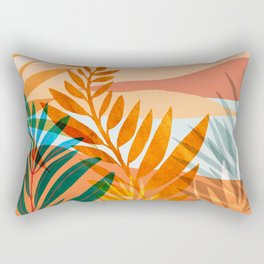 Golden Greek Garden / Sunset Landscape Rectangular Pillow