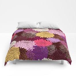 Autumn garden of chrysanthemums Comforters