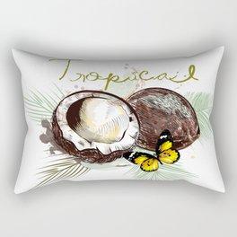 Tropical print with coconut Rectangular Pillow