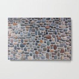 Pebble Wall Metal Print