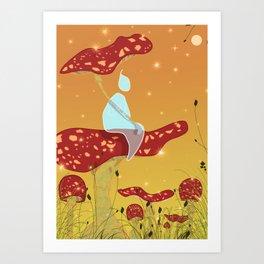Midsummer Raindrop Art Print