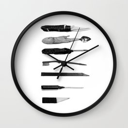 Prison Shanks Wall Clock