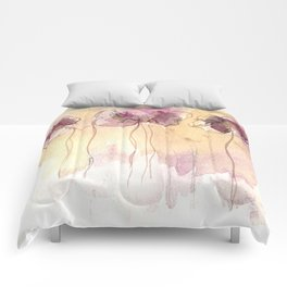 Fragrance - Abstract Flowers Watercolour Comforters
