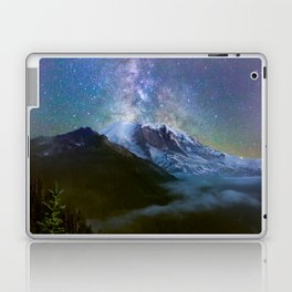 Milky Way Over Mount Rainier Laptop & iPad Skin