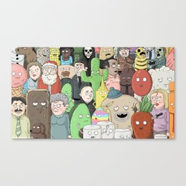 Good Toast Character Montage Canvas Print