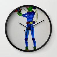 physics Wall Clocks featuring Alien Physics  by DApple